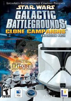 box art for Star Wars Galactic Battlegrounds Clone Campaigns