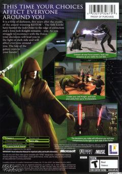 Box art for Star Wars Knights of the Old Republic II: The Sith Lords