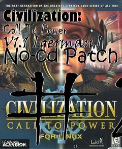 Civilization: Call To Power V1 1 [german] No-cd Patch #2