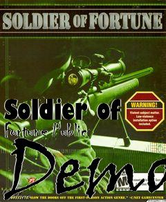 Box art for Soldier of Fortune Public Demo