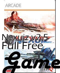 Box art for Nexuiz v2.5 Full Free Game
