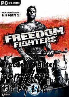 Box art for Freedom fighter complete profile