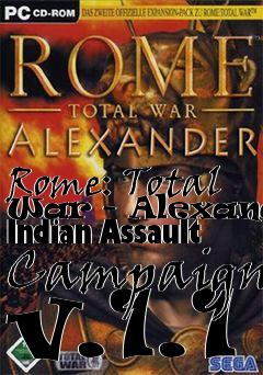 Box art for Rome: Total War - Alexander Indian Assault Campaign v.1.1