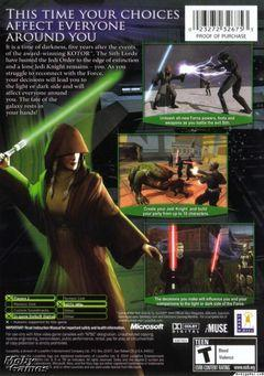 Box art for Knights of the Old Republic III: The Jedi Masters