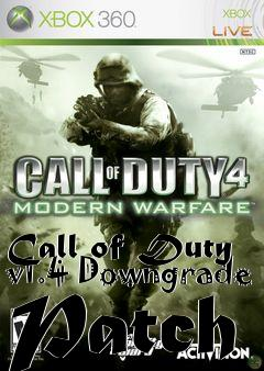 Box art for Call of Duty v1.4 Downgrade Patch