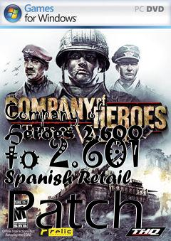 Box art for Company of Heroes 2.600 to 2.601 Spanish Retail Patch