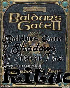 Box art for Baldurs Gate 2 Shadows Of Amn