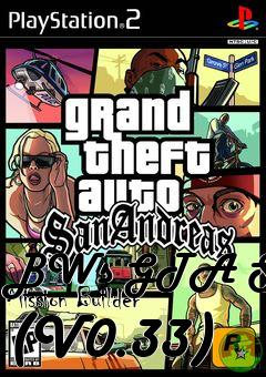 Box art for BWs GTA SA Mission Builder (V0.33)