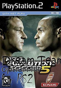 Box art for Dream Team option file for PS2