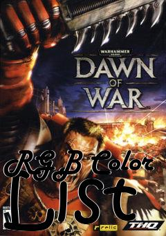 Box art for RGB Color List