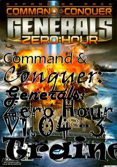 command and conquer generals zero hour trainer