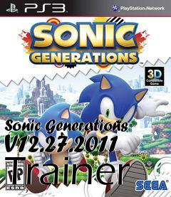 Box art for Sonic Generations V12.27.2011 Trainer