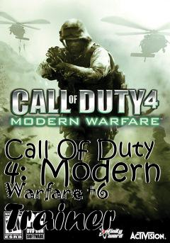 Call Of Duty 4: Modern Warfare +6 Trainer free download : LoneBullet