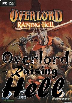 Box art for Overlord - Raising Hell