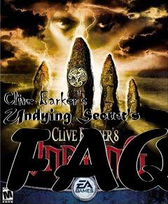 Box art for Clive Barker