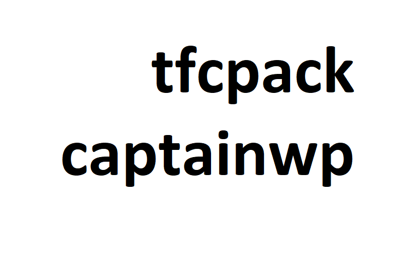 tfcpackcaptainwp screenshot